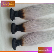 Alibaba Express peruvian virgin human hair bundles silk straight grey human hair weaving