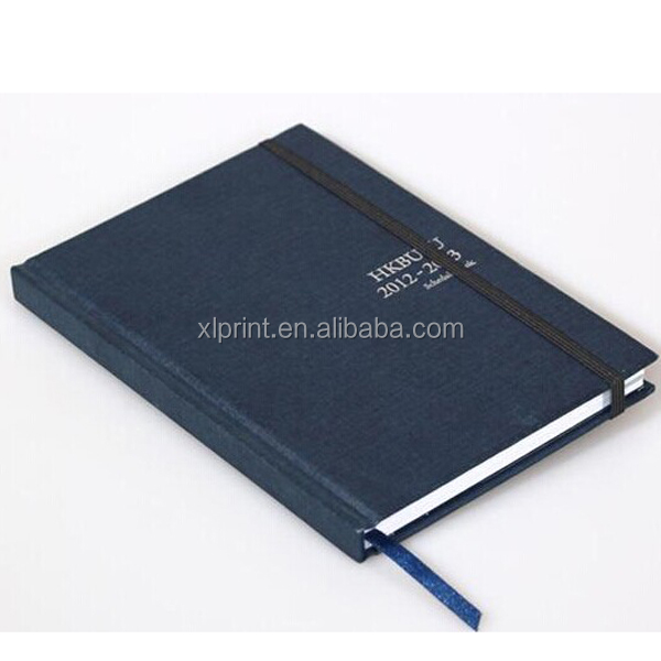 Recycle paper hardcover notebook/colored printing exercise book for student