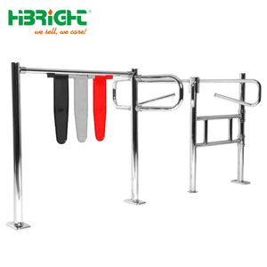 supermarket security entrance four-arm turnstile gate with trolley bar
