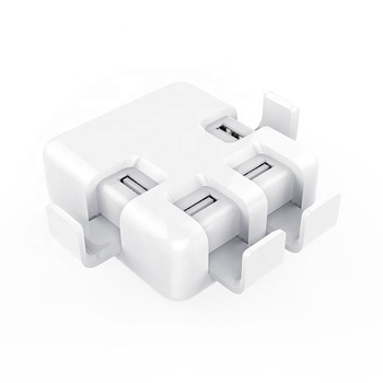Quick Charge USB Power Adapter 4 Port Desktop Charging Station Mobile Phone Power Adapter Multiple Devices Charging