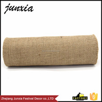 Junxia 2016 Wholesale Natural Jute Table Runner Wedding Decor Solid Home Decor Burlap Roll Table Runner