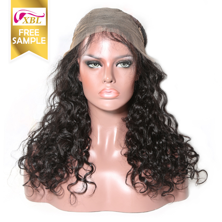 XBL Wholesale human hair full lace wigs with baby hair,100% Natural brazil human hair wigs for black women,free lace wig samples