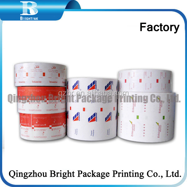 Packaging paper Customized printed pe coated paper roll for sugar