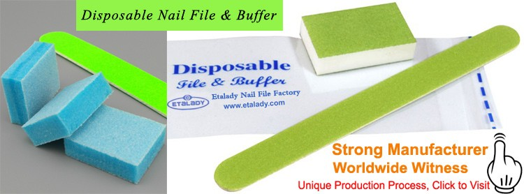 Colorful Nail Emery Board, Disposable Nail File