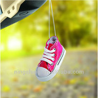 Long-lasting Fragrance Canvas Shoe Shape Aroma Hanging Car Air Freshener,Hanging Car Perfume For Promotion,Car Deodorizer