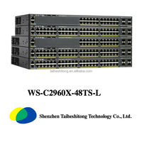 Original Cisco 48 Port Network layer 2 Switch WS-C2960X-48TS-L Cisco sfp modules