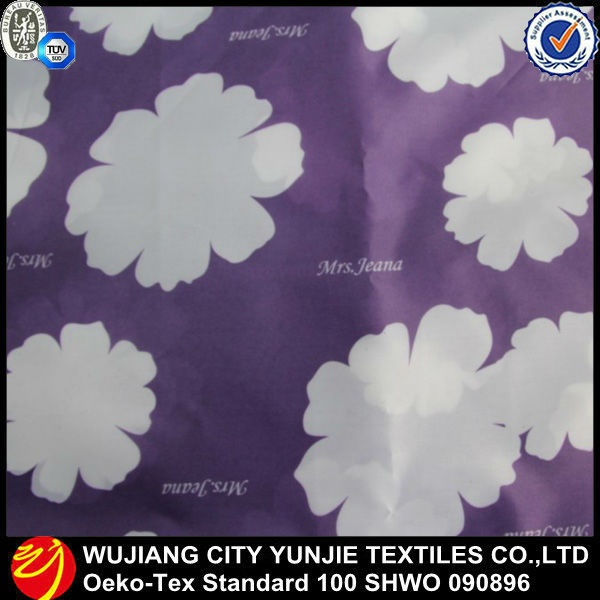 polyester oxford fabric pu coated/printed for umbrella cover