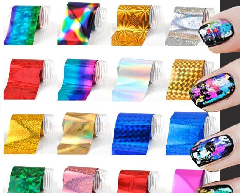 Newest Fashion Metallic & Holographic Nail Art Foil/189Colors Metallic Nail Transfer Foil/Metallic Nail Foil