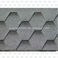 Colorful Hexagonal Asphalt Shingle Tile Roof