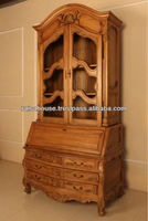 French Furniture - Large Secretary with Grill