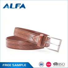 Alfa Wenzhou Belt Manufacturers Cowhide Brown Genuine Leather Belt