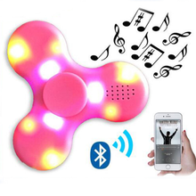 LED light spinner toy emitting fingertips Bluetooth speakers Fidget hand spinners
