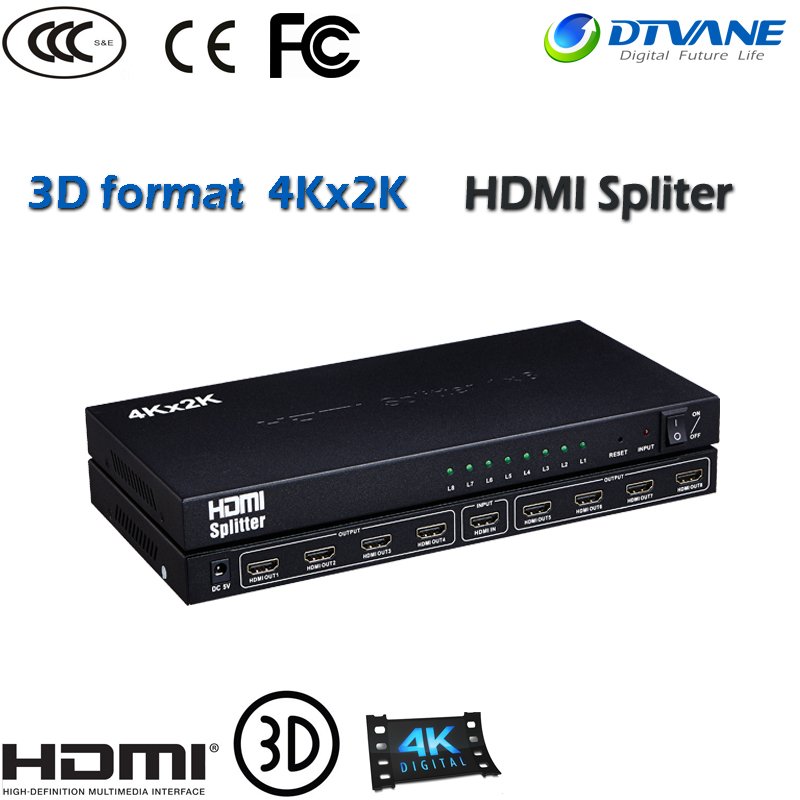 HDMI Splitter 1x8 hdmi cctv video distribution hdmi splitter 1 in 8 out