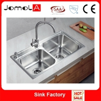 Jomola handmade ss304 stainless steel kitchen sink single square bowl custom made fregadero acero inoxidable hecho con m