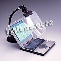 Transparent color magnifier for screen of computer