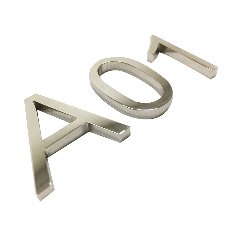 Custom New Design High Quality Stainless Steel Aluminum logo Metal Letters for Office Signage