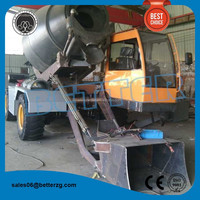 construction equipment ajax fiori self loading mobile concrete mixer price