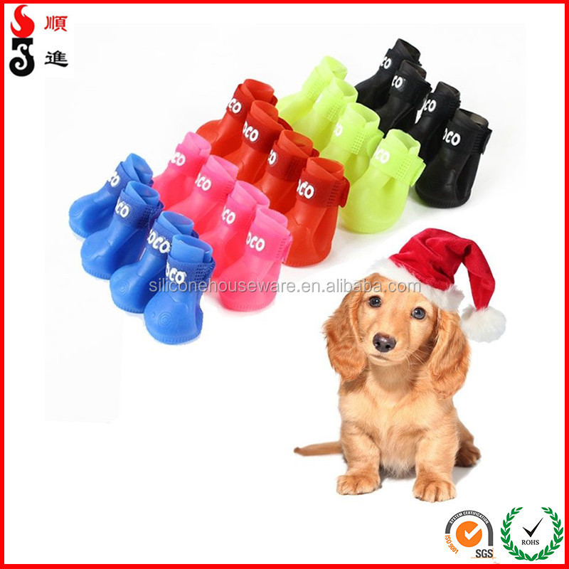 Candy Rain Dog Boots Protective Rubber Pet Waterproof Shoes Booties