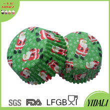 Custom christmas Paper Bakeware,Muffin Cups,Microwave Paper Cake Mould