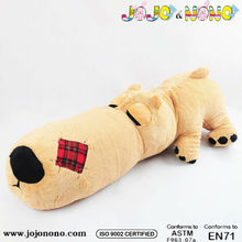 ICTI and Sedex audit new custom design EN71 fake fur sleeping dog toy