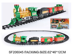 Best christmas promotional gift baby smoking train toys