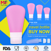Portable outdoor leak-proof soft squeeze silicone travel bottles hair product containers