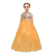 Arabian Prom Dresses Long Maxi Dresses For Kids Puffy Party Clothes LP-72