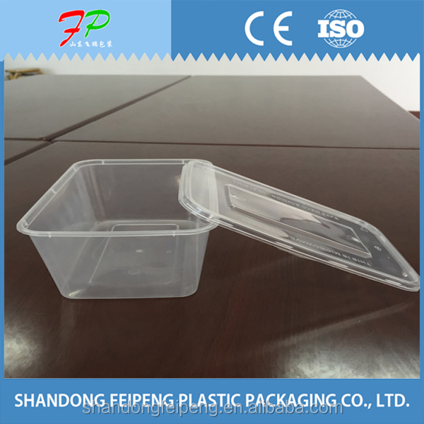 Large size plastic disposable take away food container/meal box