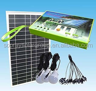 High Quality Mini Project 10w LED Lithium Battery Solar Home Light Lighting System for Indoor