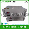 48V 100Ah high performance storage LiFePo4 battery pack 16S50P good quality battery system