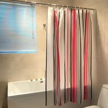 Cheap Vertical Stripes Bright Color Design 2013 PEVA Shower Curtain For Bathroom