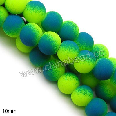 Chinese 10mm cheap rubber bead round glass beads