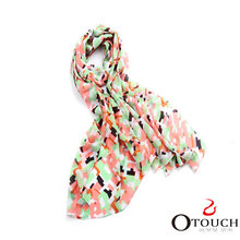 Cheap and nice polyester muffler wool fabric scarf