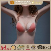 strapless invisible backless pink bras extender girl sexy tube sexy bra silicone bra thick bust a b c d cup