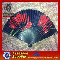 2014 bamboo hand cloth fan wholesale