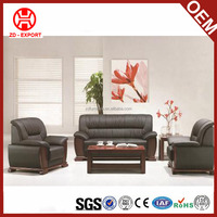 Cheap price dubai leatehr sofa furniture with wooden based