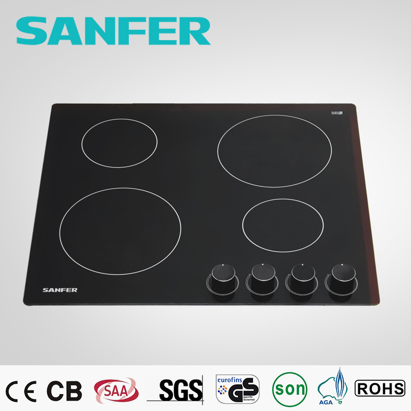 60cm 4 burner ceramic infrared round gas burner
