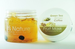 It's Nature - Anti-Aging Green Tea, Ginger & Coffee Active Hydrating Moisturizing Facial Mask for Mature & Dry Skin