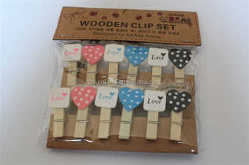 Wooden High Quality Wooden Clip wooden memo clip holder
