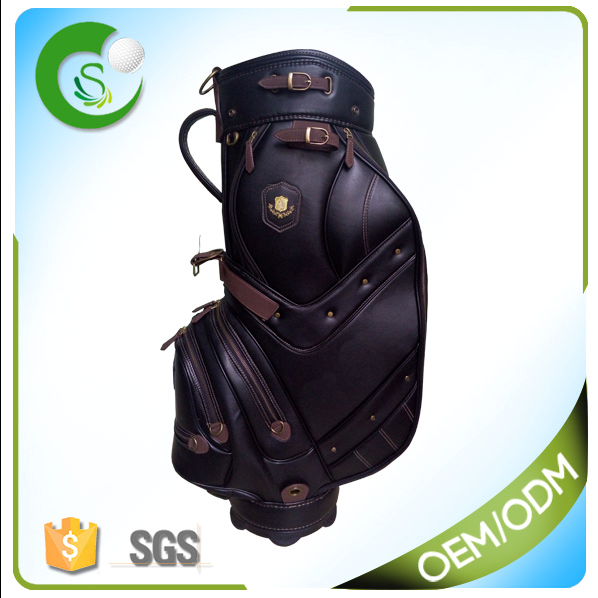 Latest OEM Luxury Synthetic Leather PU Golf Bag