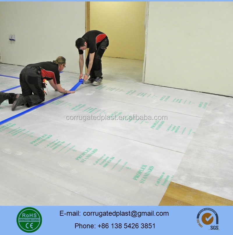 2mm 2.5mm 3mm Temporary Corflute Sheet Floor Protection