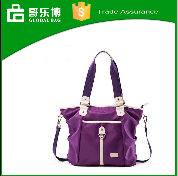 European Best design PU Nylon hand bag for woman leisure fashional shoulder bag