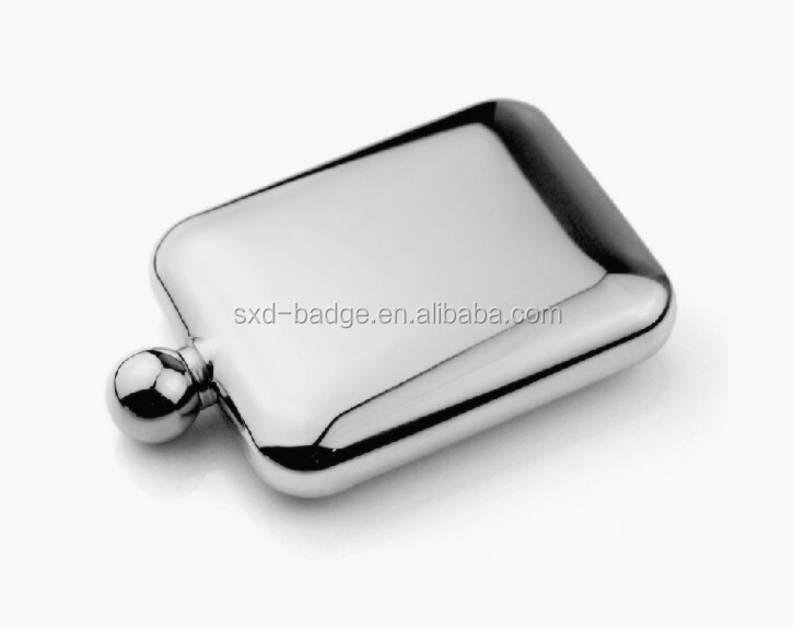 cheap 6oz disposable titanium 304 stainless steel wine virtual water hip flask