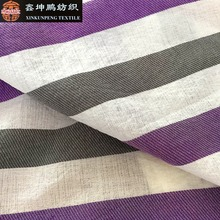 Factory price 92GSM 50 polyester 50 cotton striped fabric for dresses