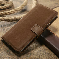 Retro Flannelette leather wallet case for samsung galaxy note 3 case