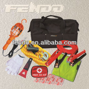car roadside emergency tool kit first aid kit with tool bag