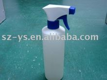 500ml White Plastic Bottle with Natural Trigger Spray Top