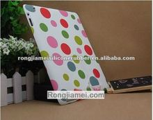 High grade silicone skin lovely case color dot for Ipad protective case