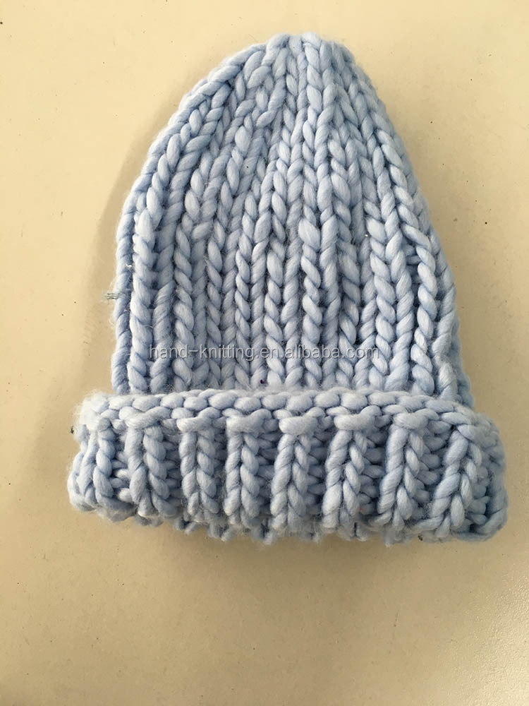 Winter high quality warm wholesale knitted hats for woman