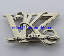 High Quality Custom Letter Shape Bag Label Metal Plate For Handbag